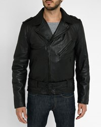 Schott Nyc Black Washed Leather Perfecto Jacket