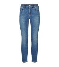 Michael Michael Kors Izzy Cropped Skinny Jeans Female Blue