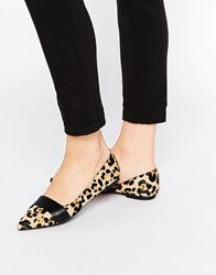 Faith Ace Pony Effect Animal Pointed Flat Shoes