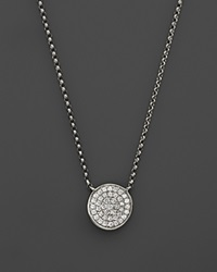 Kc Designs Diamond Pave Disc Pendant Necklace In 14K White Gold .13 Ct. T.W.
