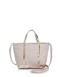 Vanessa Bruno Mini Sequin Canvas Tote Petal