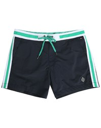 Tommy Hilfiger Navy Flag Waistband Swim Shorts Blue