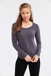 Truly Madly Deeply Camden Long Sleeve Shirttail Tee Washed Black