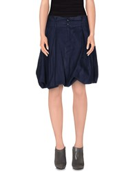 Armani Jeans Skirts Knee Length Skirts Women Dark Blue