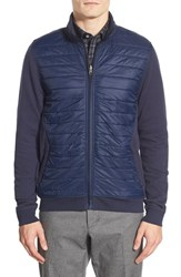 Men's Big And Tall Calibrate Quilted Mixed Media Jacket Navy Iris