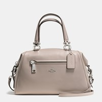 Coach Primrose Satchel In Mixed Leathers Silver Grey Birch