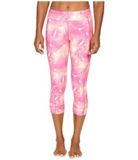 Adidas Q3 Run 3 4 Tights Ray Pink Vapour Pink Off White Women's Workout