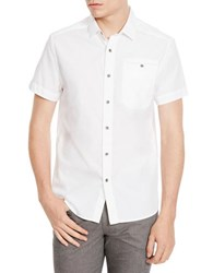Kenneth Cole Short Sleeve Ripstop Shirt White