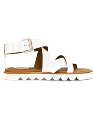 See By Chloa Crossover Strap Sandals White