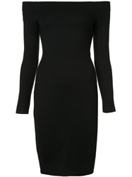 L'agence Off Shoulders Fitted Dress Black