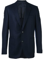 Caruso Two Button Blazer Blue
