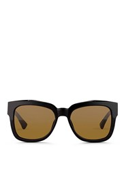 Dries Van Noten X Linda Farrow Square Frame Acetate Sunglasses Black