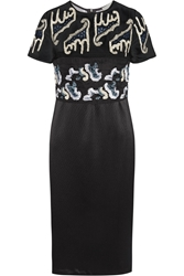 Michael Van Der Ham Becca Embellished Silk Organza And Silk Cloqua Dress
