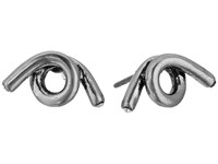 Marc Jacobs Twisted Single Wrap Studs Earrings Antique Silver Earring