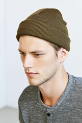 Urban Outfitters Uo Classic Beanie Green