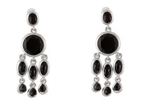 Karen Kane Baja Chandelier Earrings Black Silver Earring