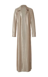 Rosie Assoulin Duster Reversible Maxi Coat Gold