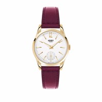 Henry London Ladies' Holborn Sub Second Dial Watch White Red Gold