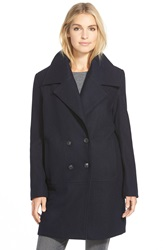 Marc New York 'Natalie' Twill Wool Blend Boyfriend Coat Denim