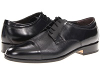 Johnston And Murphy Emmert Cap Toe Black Calfskin Deerskin Men's Lace Up Cap Toe Shoes