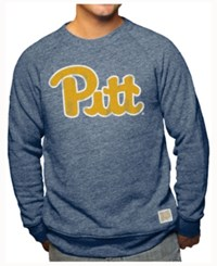 Retro Brand Men's Pittsburgh Panthers Tri Blend Crew Sweatshirt Navy