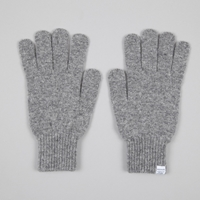Norse Projects Twisted Yarn Glove Light Grey Melange