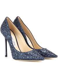 Jimmy Choo Romy 110 Glitter Pumps Blue