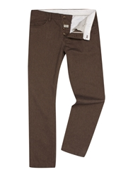 Linea Navier 5 Pocket Cotton Trousers Brown