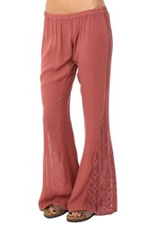 Junior Women's O'neill Lace Inset Flare Pants