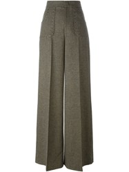 Red Valentino Studded Tweed Trousers Nude And Neutrals