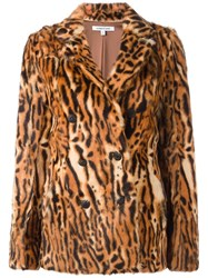 Elizabeth And James Animal Print Coat Brown