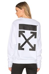Off White Arrow Crewneck Sweatshirt White