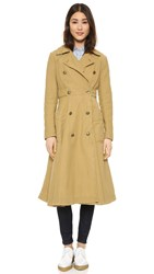 Free People Full Sweep Trench Jacket Khaki