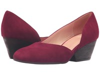 Eileen Fisher Lily Cranberry Suede Women's 1 2 Inch Heel Shoes Red