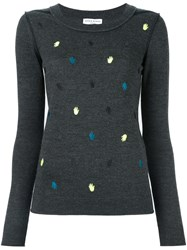 Sonia Rykiel Embroidered Hand Jumper Grey