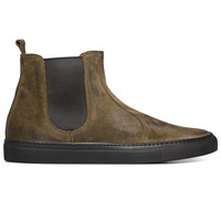 Buttero Green Suede Chelsea Boots