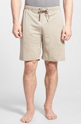 Daniel Buchler Silk And Cotton Shorts Taupe Heather