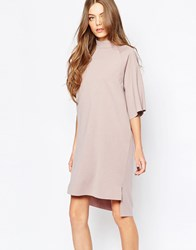 Selected Coda High Neck Dress Bark