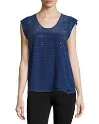 Rebecca Taylor Short Sleeve Top W Studs Anchor