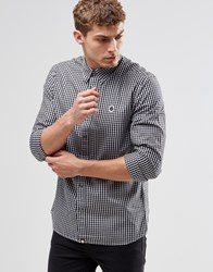 Pretty Green Shirt In Gingham In Black In Classic Regular Fit Black