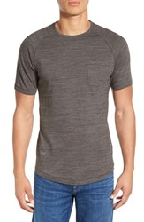 Men's Imperial Motion 'Cellular' Marled Pocket Crewneck Charcoal Marble