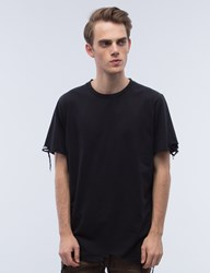 Black Scale Destroyed S S T Shirt