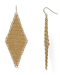 Abs By Allen Schwartz Call Of The Wild Mesh Earrings Gold