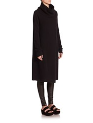 The Row Kirsi Draped Cashmere Tunic Black