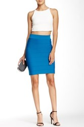 Wow Couture Solid Bandage Skirt Blue