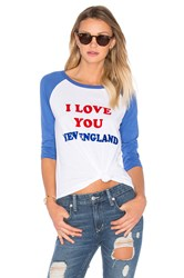 Junk Food I Love You New England Tee White