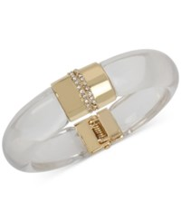 Inc International Concepts M. Haskell For Gold Tone Resin Hinged Bangle Bracelet Only At Macy's