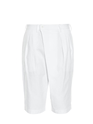 Issey Miyake Crossover Pleated Relaxed Fit Shorts