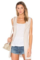 Sanctuary City Linen Duster Vest Beige