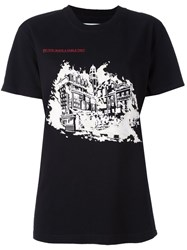Off White 'Burning Palace' T Shirt Black